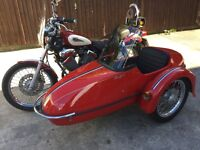 Yamaha virago with watsonion sidecar low mileage excellent condition new m o t