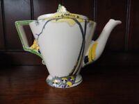 Antique Burleigh Ware Teapot, Pan Design circa 1930's
