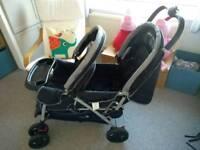 Double buggy / pushchair / pram