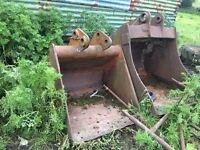 2 digger buckets - coalisland