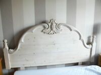 VERY ATTRACTIVE BLEACHED PINE HEADBOARD