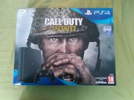 BN Boxed PlayStation 4 with call of duty ww2