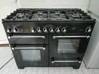 Rangemaster Kitchener 110 Dual Fuel Range Cooker 110cm with FSD in Black