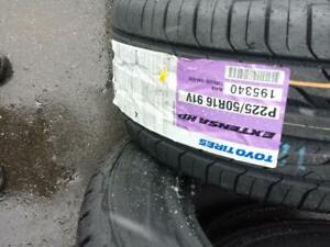 BRAND NEW WITH LABELS ULTRA HIGH PERFORMANCE TOYO EXTENSA   V  RATED  215 / 45 / 17 ALL SEASON TIRE SET OF FOUR.