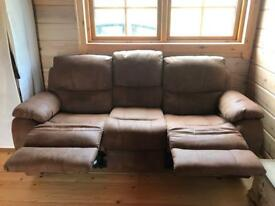 Faux Swede Brown Sofa