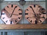 RARE, 1920's Art Deco, Antique, Vintage, Copper Clock Faces, Industrial, WOW! Only 1 Left! X3 Sold.
