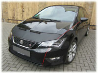 seat leon mk3 JOM leather bonnet bra + clips for fitment stone chip protector