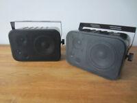 Pyle PDWR30B Indoor/Outdoor Waterproof Wall Mount Hi-Fi Patio Speakers in great used condition