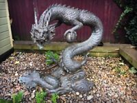 Brass Chinese Dragon Garden Water Feature