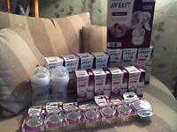 BRAND NEW Philips avent baby bottle bundle and breast pump. £75