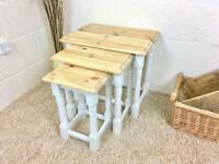 Solid Pine Nest Of Tables ***£99*** ALL MAJOR DEBIT AND CREDIT CARDS ACCEPTED