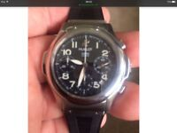 Hublot gents watch stainless steel black strap boxed make beautiful xmas present,been serviced