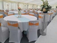 Chaircovers and sashes hire business for sale.