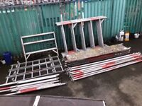 Aluminium scaffolding towers