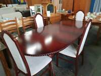 Caxton extending dining table with four chairs