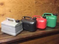 20 plastic fuel cans