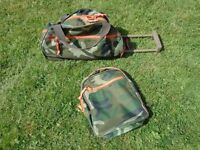 ARMY Camouflage pull along bag & back pack - TRIPP