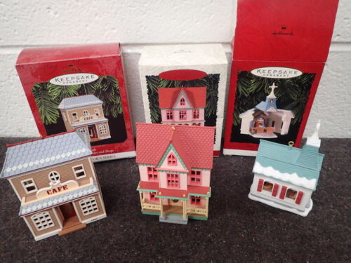 lot of 3 vintage Hallmark Keepsake Christmas Ornaments Collector Series