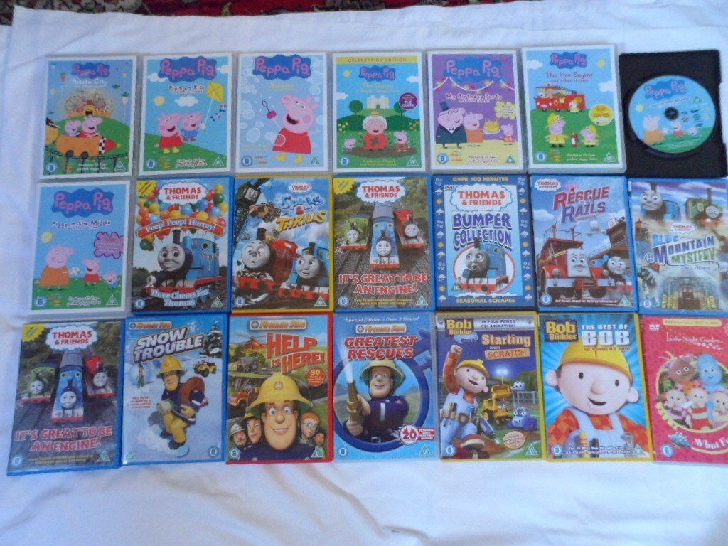 Peppa Pig Ben 10 Thomas Brum Firemen Sam Bob Plus Other Dvds