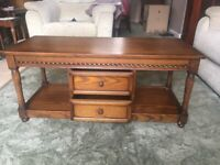 Old Charm Wood Bros coffee/occasional long table