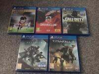 PS4 games sold separately check description for price