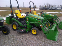 New John Deere Estate Tractor with Loader & Mower - $362/Month