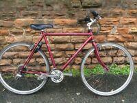 Raleigh Freedom 200 cromoly Large Comfort Hybrid Bike with Lock