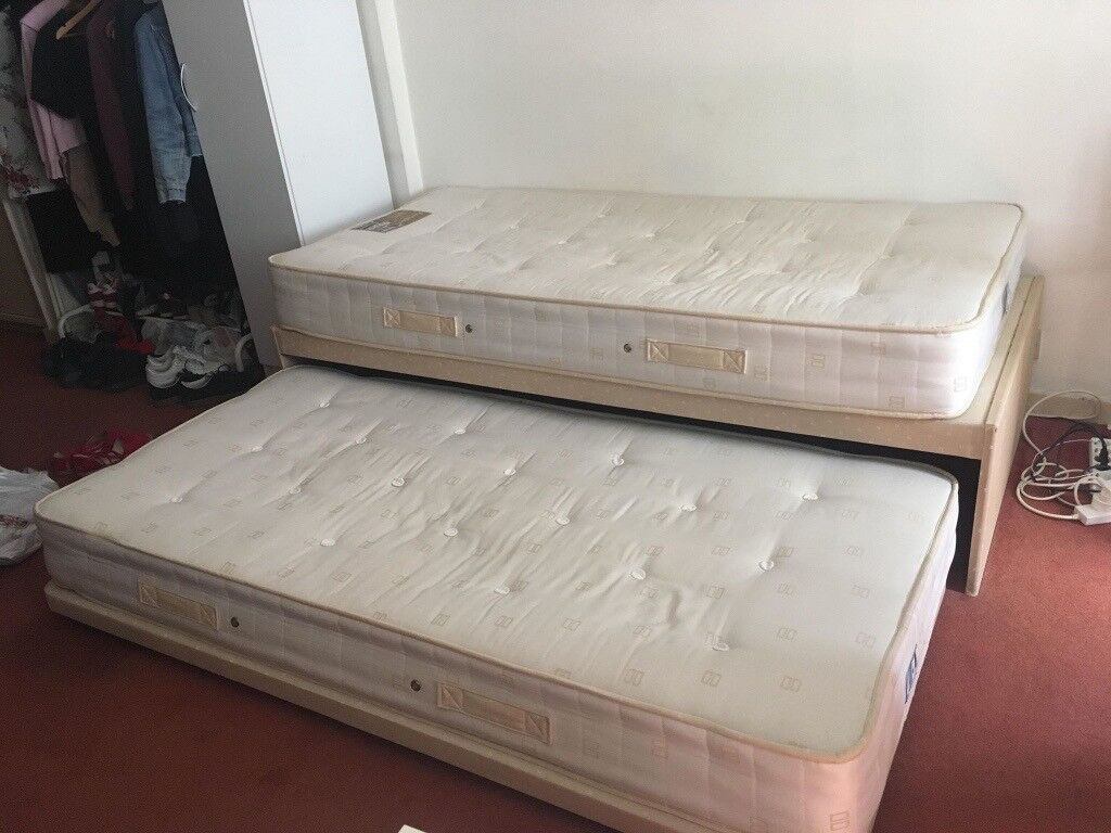 Trundle Bed Single Turned Into Double With Mattresses Included In Holborn London Gumtree