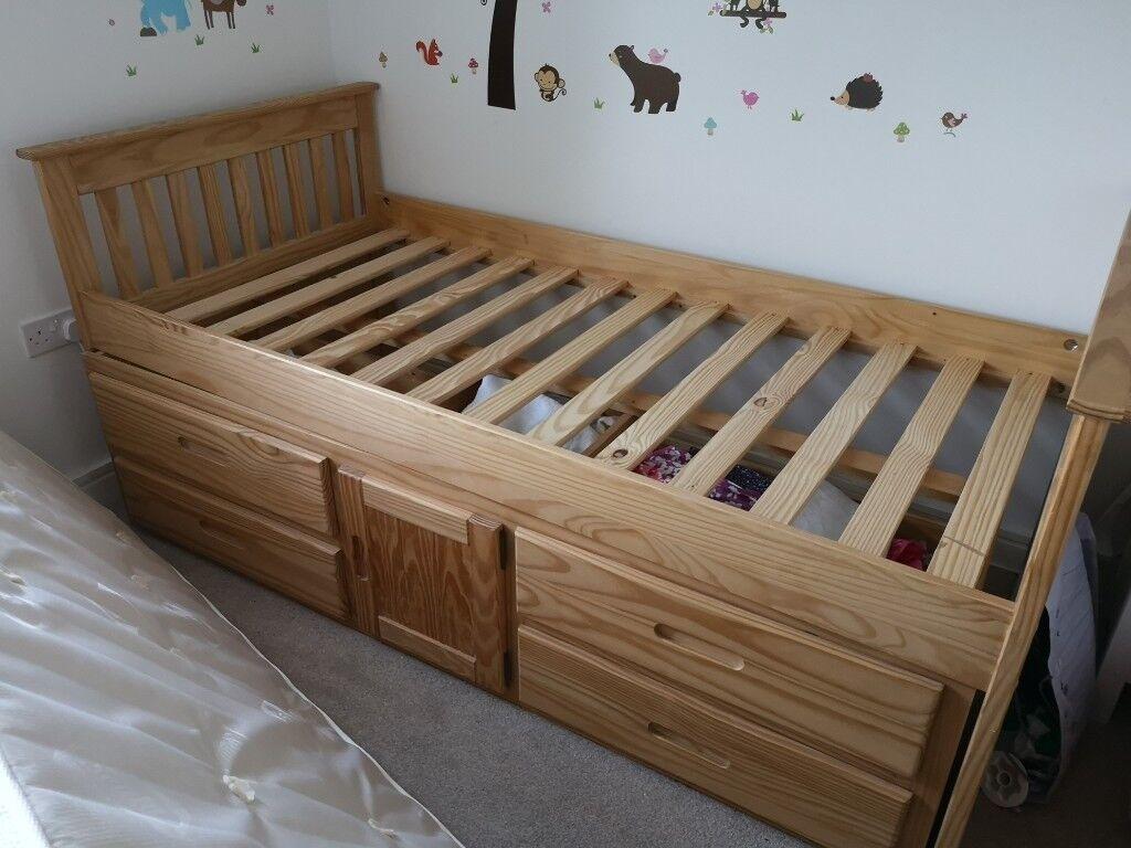 a428d3678dc0 Single solid pine bed & built-in storage | in Totnes, Devon | Gumtree