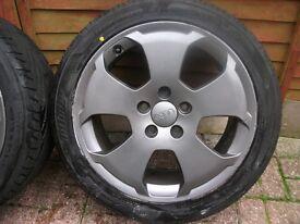 Genuine Audi sport alloys wheels
