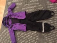 Children's ski jacket and trousers