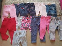 Bundle of girls trousers & tops - Age 3