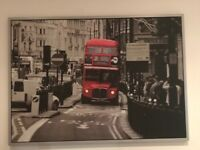 Ikea London Red Bus Framed Picture