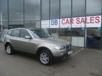 2007 07 BMW X3 2.0 D SE 5D 148 BHP***GUARANTEED FINANCE***PART EX WELCOME***
