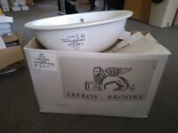 Vanity basin; under counter by Lefroy Brooks