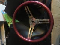 Original Mooneyes 'glitter' steering wheel with boss to suit classic Vw