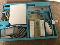 Wii console with wii fit and active