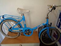 Blue raleigh solitaire ladys / girls bike