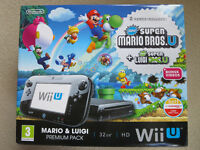 Nintendo Wii U + Mario Kart 8 + Splatoon + Nintendo Land + Accessories