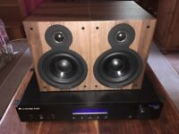 Cambridge Audio Speakers and Amplifier