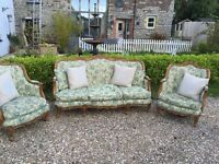 French Louis Sofa & 2 chairs - Exceptional!