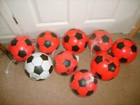9 x NEW / UNUSED footballs