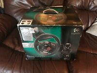 Logitech driving force wheel for PS3 or PS4 only been used once