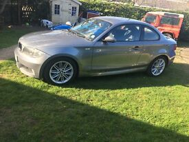 BMW 120d 1 series Coupe m sport 2009 grey manual FSH 2.0l diesel