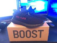 Adidas Yeezy Boost V2 Black Red - UK 9.5