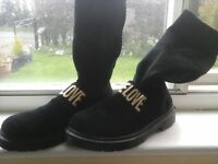 Ladies sock boots in size 5