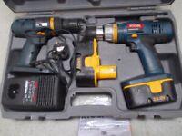 Ryobi 18 v pair of cordless drills charger instruction books all iin Ryobi box