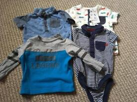 Baby boys tops 0-3 months