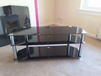 Television Stand Black Glass, Immaculatr condition