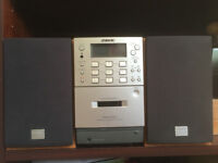 Sony PMC-307L stereo system. CD, Cassette, Tuner; 10w output with remote controller